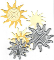 Dies...to die for metal cutting craft die - Layered Sun Swirly
