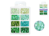 Craft Medley -  Sequins - Go Green