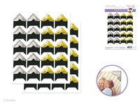 """Photo CornerS -  3/4"""" Embossed   Gold + Silver  -  40 per package"""