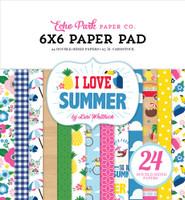 ECHO PARK - I LOVE SUMMER 6 X 6 PAPER PAD