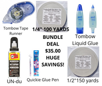 ADHESIVE BUNDLE DEAL - EVERYTHING SHOWN IS INCLUDED IN DEAL