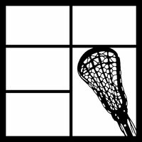 LACROSSE RACKET RIGHT - 12 X 12 SCRAPBOOK OL