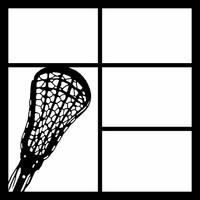 LACROSSE RACKET LEFT - 12 X 12 SCRAPBOOK OL
