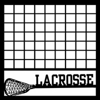 LACROSSE RACKET WITH GRID - 12 X 12 SCRAPBOOK OL
