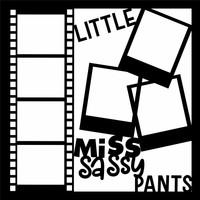 LITTLE MISS SASSY PANTS - 12 X 12 SCRAPBOOK OL