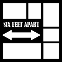 SIX FEET APART - 12 X 12 SCRAPBOOK OL