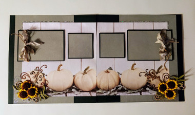 Beautiful muted colors for this Fall Memories layout kit. Includes everything you see here plus title (not pictured)