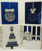 Christmas Card Kit includes bow die -Designed by Terre Fry (with Free Shipping)