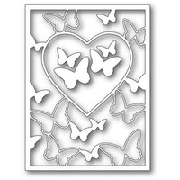 Butterfly Heart frame - metal craft die by Memory Box