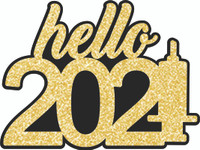 HELLO 2021 - LASER DIE CUT
