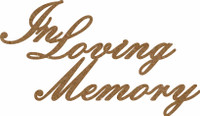 IN LOVING MEMORY - CHIPBOARD EMBELLISHMENT