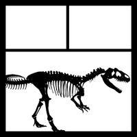 Dinosaur Bones Pg 1 -  12 x 12 Scrapbook OL
