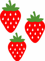 Strawberries Set of 3 - Laser Die Cut