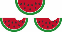 Watermelon Set of 3 -Laser Die Cut