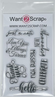 Want2scrap - Sentiments Set # 2