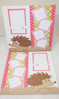 Hedgehog Scrapbook Kit - designed by Terre Fry