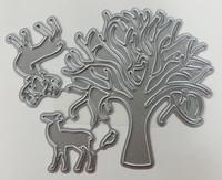 Want2scrap - Tree, Deer & Cardinal Die