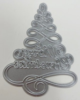 Want2scrap - Merry Christmas, scroll & Tree Die