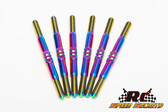 RCSS AE DR10 Drag Racer 3.5mm SMOOTH Titanium Turnbuckle Set Bada Bling