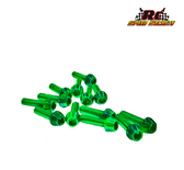Rc Speed Secrets T6.1 Titanium   Upper Screw Kit 56 pcs Monsta' Green Finish
