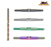 RCSS XRAY XB4 Beast Mode Titanium Turnbuckle Set (Choose from Bada' Bling, Black, Gold,  Green or Natural Finishes)