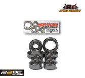 "Rc Speed Secrets ""Next Level"" Hybrid Ceramic Wheel Bearings Stainless  for 22S No Prep Drag Roller"