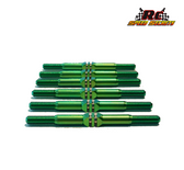 RCSS Yokomo YZ-2 Beast-Mode Titanium Turnbuckle Set (MONSTA' GREEN FINISH)