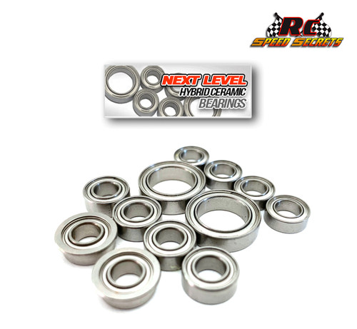 "RCSS Schumacher Cougar Laydown 2wd ""Next Level"" Hybrid Ceramic Bearings- Stainless- Complete Car Set"