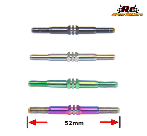 "Beastmode Pro-Cut Deep Channel 3.5mm HD Diameter Titanium Turnbuckles - 50mm Length ""Pairs"""