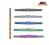 RCSS Associated SC6.1 3.5mm Beast Mode Titanium Turnbuckle Set (Bada Bling, Black, Blue and Natural Finishes)
