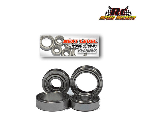 Rear Hub Bearings for the Team Associated B6.2. Set includes 4 pcs 2 inner and 2 outer b6.2 rear hub bearings