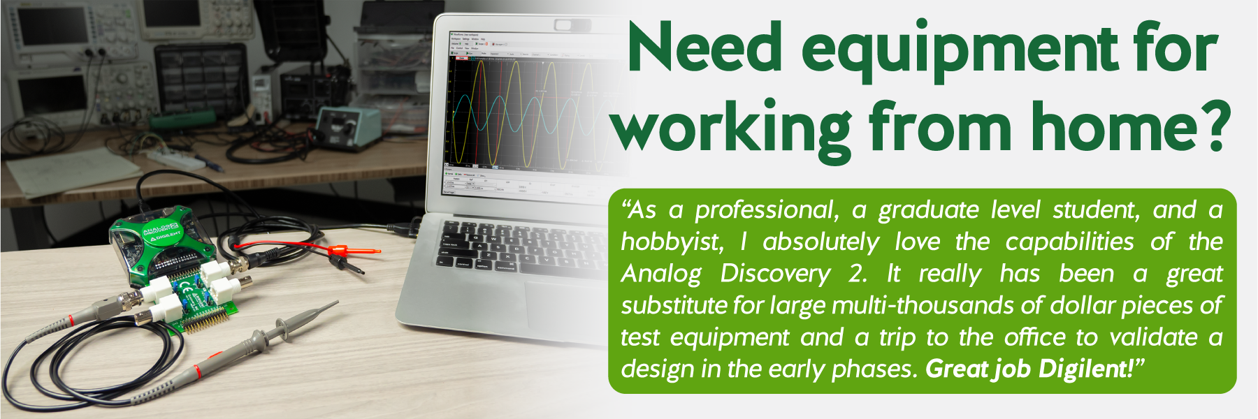 Need equipment for working from home?