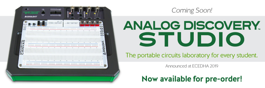 Introducing our newest product: Analog Discovery Studio, the portable circuits laboratory for every student! Pre-order now!