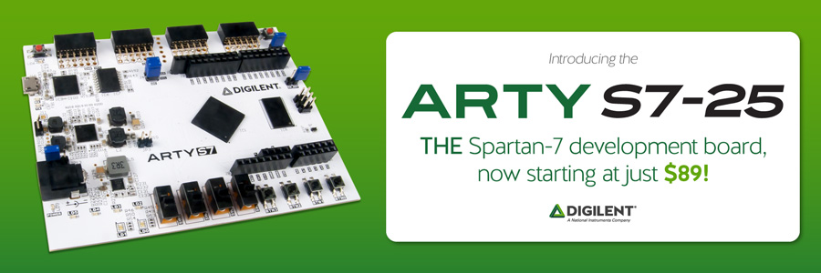 Banner advertisement for the Arty S7-25