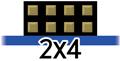 2x4 Pmod pinout icon