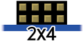 2x4 pin Pmods icon