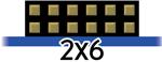 2x6 pin Pmods icon