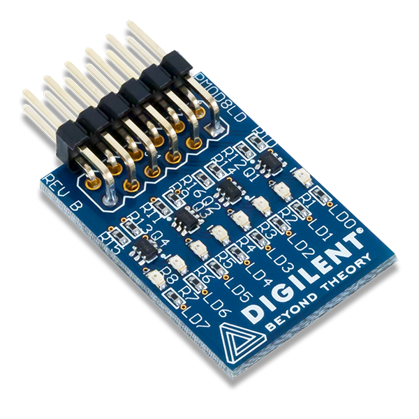 Pmod 8LD │ 8 個高亮度 LED 模組