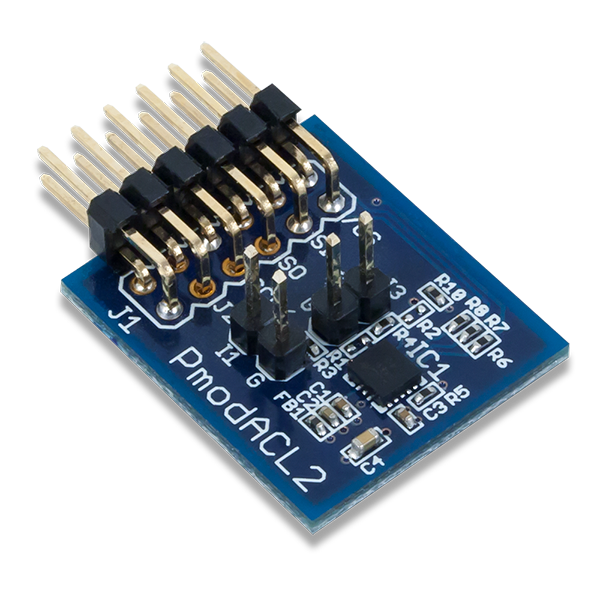 Pmod ACL2 │ 三軸MEMS加速度計模組