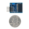 Size comparison product image of the Pmod AD2: 4-channel 12-bit A/D Converter and a US quarter (diameter of quarter: 0.955 inches [24.26 mm]; width: 0.069 inches [1.75 mm]).