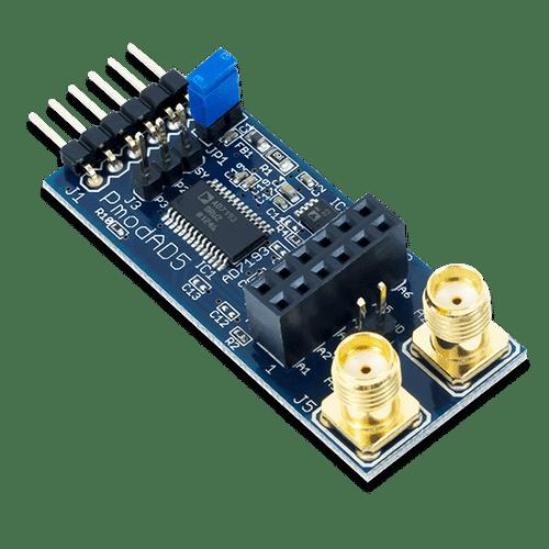 Pmod AD5: 4-channel 4.8 kHz 24-bit A/D Converter product image.