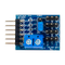 Top view product image of the Pmod CON3: R/C Servo Connectors.