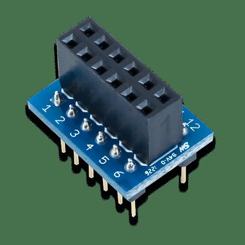 Pmod DIP: DIP to 12-pin Pmod Adapter product image.