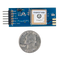 Size comparison product image of the Pmod GPS: GPS Receiver and a US quarter (diameter of quarter: 0.955 inches [24.26 mm]; width: 0.069 inches [1.75 mm]).