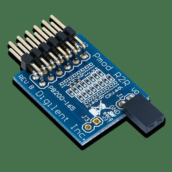 Pmod R2R │ 電阻梯形數位類比轉換模組