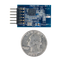 Size comparison product image of the Pmod RF2: IEEE 802.15 RF Transceiver and a US quarter (diameter of quarter: 0.955 inches [24.26 mm]; width: 0.069 inches [1.75 mm]).