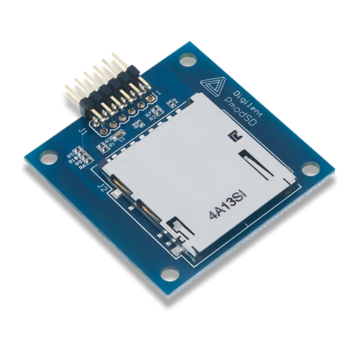 Pmod SD: Full-sized SD Card Slot product image.