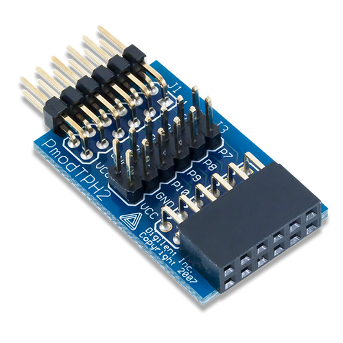 Pmod TPH2: 12-pin Test Point Header product image.