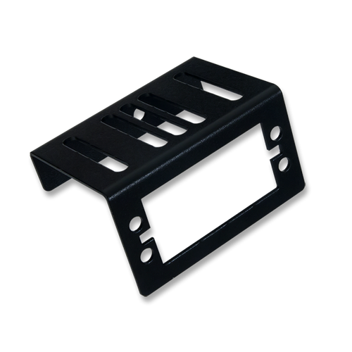 Servo Mounting Bracket: Black Brushed Metal product image. Ships in pairs.