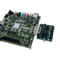 Product image of the VmodMIB: VHDC Module Interface Board in use and plugged into an Atlys FPGA. Atlys board not included.